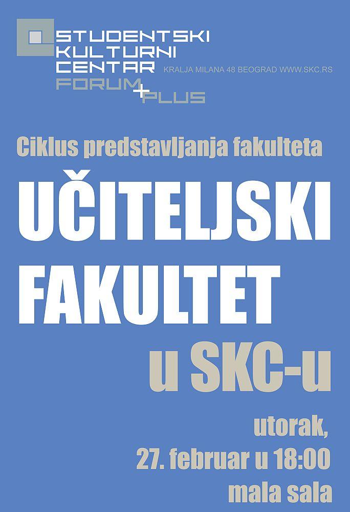 Učiteljski fakultet u SKC-u