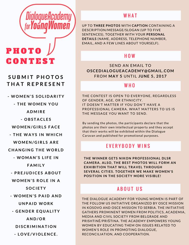 Foto konkurs Položaj žena u društvu