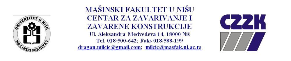 Mašinski fakultet u Nišu organizuje kurs za međunarodne inženjere zavarivanja (IWE) i tehnologe zavarivanja (IWT)