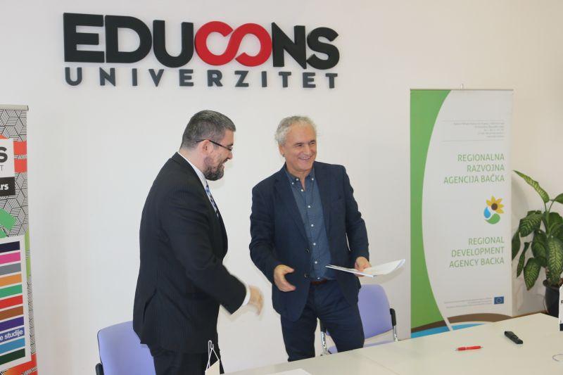 Potpisan sporazum o saradnji između Regionalne razvojne agencije Bačka i Univerziteta Educons