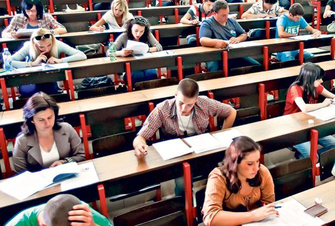 Prijemni ispiti od 26. juna do 2. jula