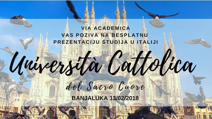 Banjaluka: Prezentacija Univerziteta Cattolica del Sacro Cuore iz Milana