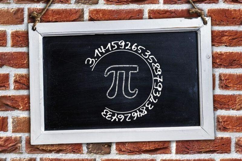 Guglova naslovna strana u znaku broja Pi